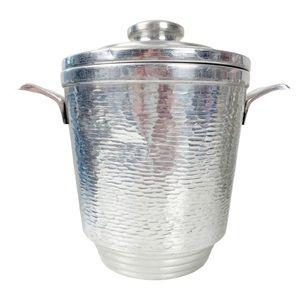 VTG Nasco Italy MCM textured aluminum ice bucket